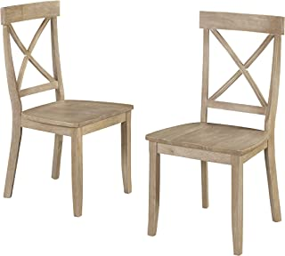 Classic White Washed X Back Dining Chairs by Home Styles