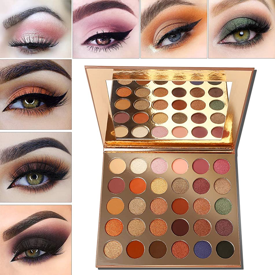 Eyeshadow Palette Nudetude,Afflano Highly Pigmented Neutral Pro Makeup Palettes Eye shadow,Pink Red Gold Orange Warm Smoky 30 Color,Cream Matte Shimmer Metallic Big Vegan Cruelty Free Eyeshadow Pallet