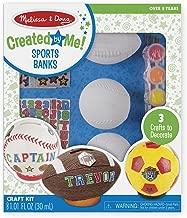 Melissa & Doug Decorate-Your-Own Sports Set Craft Kit - Soccer, Baseball, and Football Banks