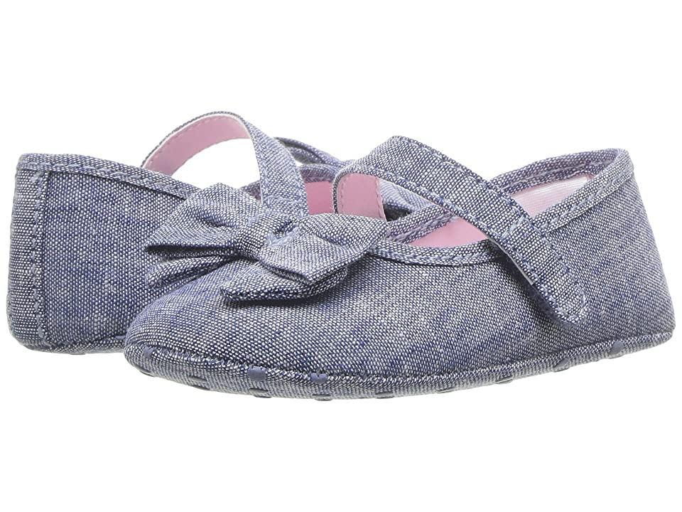 Janie and Jack Chambray Bow Ballet (Infant) (Chambray) Girl