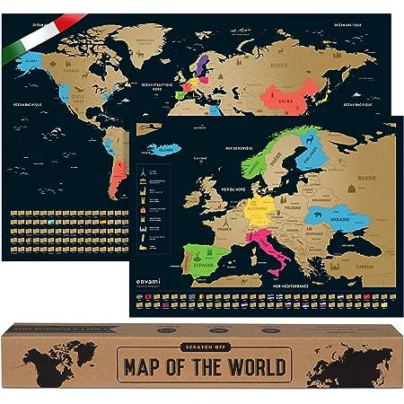 Cartina Russia Da Stampare.Mappa Del Mondo Da Grattare I Cartina Mondo I Italiano I Piu Mappa Europea I 68