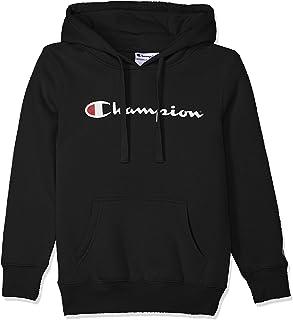Champion Kids Script Hoodie, Black, 8