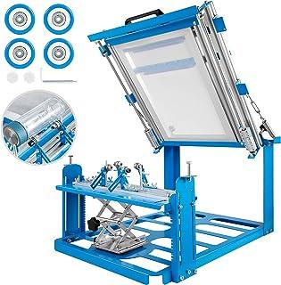 VEVOR Máquina de Serigrafía Cilindro Manual Máquina de Serigrafía 200 * 240mm Máquina de Serigrafía de Seda Azul
