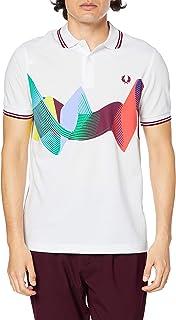 [フレッドペリー] ポロシャツ ABSTRACT SPORT POLO SHIRT M8632 メンズ 100_WHITE UK S (日本サイズM相当)