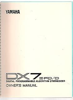 Yamaha DX7 II FD/D Digital Programmable Algorithm Synthesizer Owner's Manual