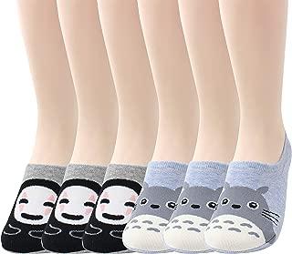 LIVEBEAR Women's Multi-Pack No Show/Low Cut Non-Slip Silicone Cotton Casual Socks
