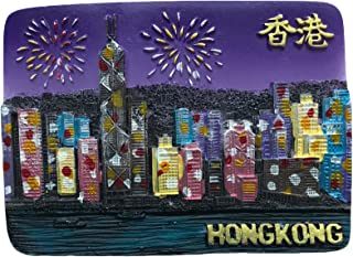 3D香港中国の花嫁のマグネット観光のお土産、香港の手作りの家と台所の装飾冷蔵庫のマグネットコレクションステッカー