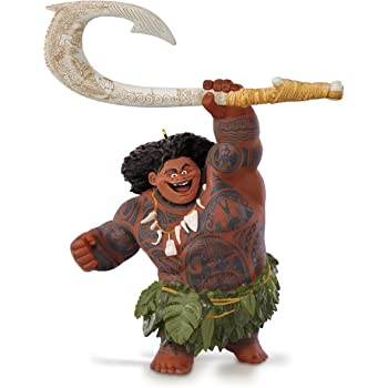 "Disney Moana Maui Demigod Holiday Christmas Tree Ornament PVC Figure 4.5/"" New"