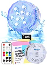 Idealife Magnetic Submersible LED Light- Remote Controlled AA Battery Operated Colorful Waterproof Lights Decorative Spa Hot Tub Pool Pond Lights Night Light with Timer Party Halloween Decoration
