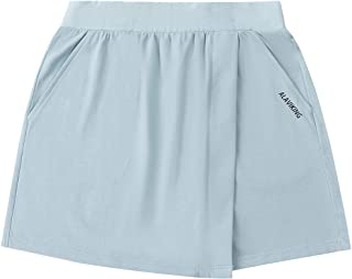 ALAVIKING Girls Cotton Skirts Athletic Running Shorts Scooter Skirt for Girls Size 3-12 Years (Light Blue-xs)