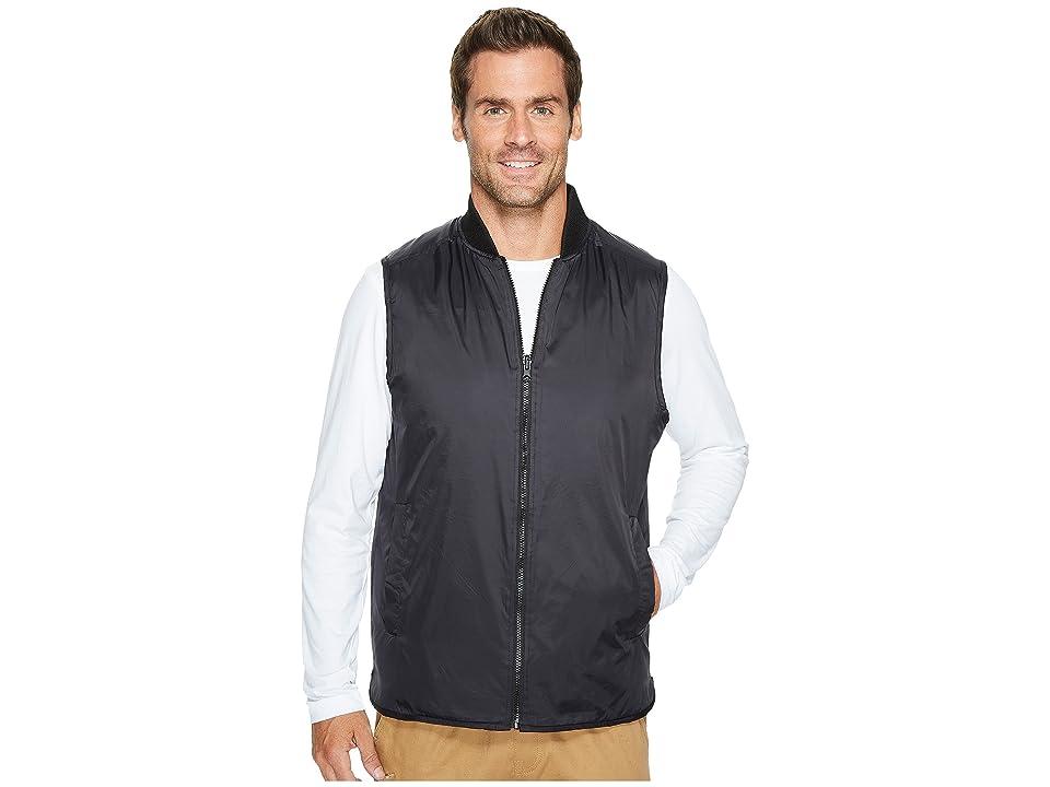 Kenneth Cole Sportswear Reversible Knit/Nylon Vest (Black) Men