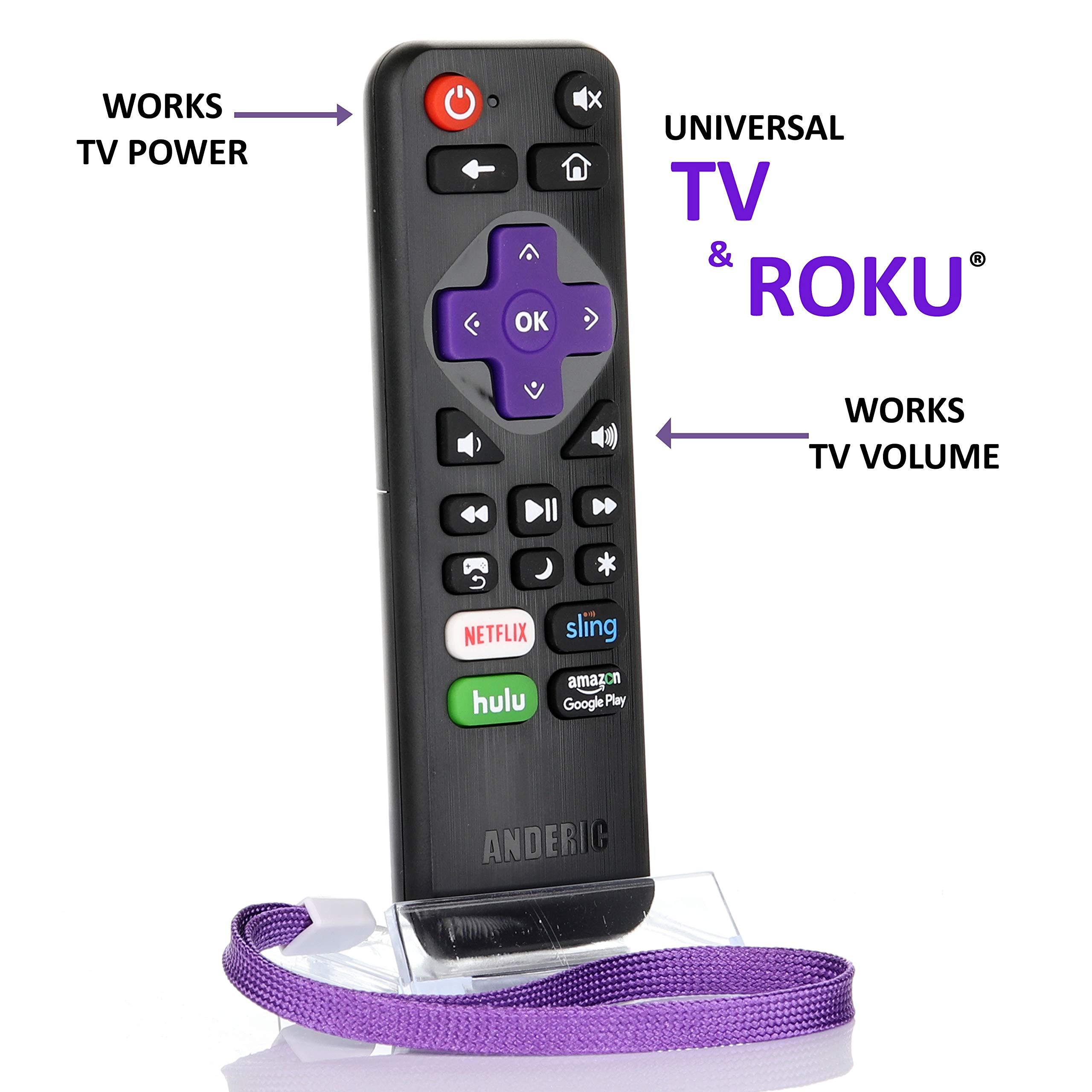 Mando a distancia universal IR Roku Express con volumen Roku/TV Streaming 2 en 1 con