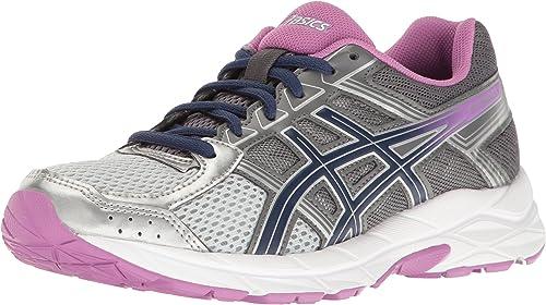 Asics Chaussures Gel-Contend 4 (D) Pour Femme, 40.5 C D EU, argent Campanula Carbon