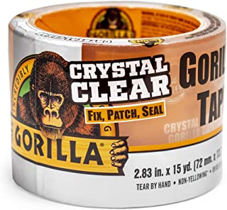"Gorilla Crystal Clear Duct Tape Tough & Wide, 2.88"" x 15 yd (Pack of 1)"