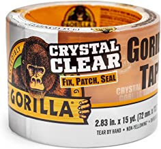 """Gorilla Crystal Clear Duct Tape Tough & Wide, 2.88"""" x 15 yd (Pack of 1)"""