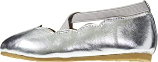 Sara Z Baby-Girls Toddler Girls' Ballet Flat with Scalloped Edges