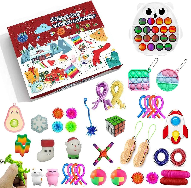 Qiylii Surprise Very popular! Advent Seattle Mall Calendar 2021 Fidget Set Toy Days 24 Pop