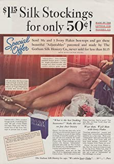 cb1d3189ee $1.15 Silk Stockings for only 50c by Gotham Silk Hosiery Company ad 1935