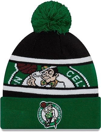 c116d4ae914 New Era Boston Celtics Sport Knit Call Out Cuffed Pom Knit Hat -Green