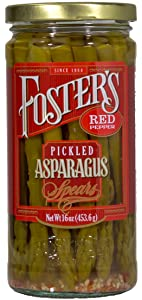 Foster's Pickled Asparagus Red Pepper 16oz (3 Pack)