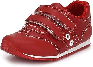 Tuskey Boys Genuine Leather Velcro Jogger Shoe