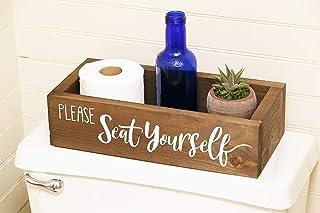 Please Seat Yourself -Bathroom decor - Funny Bathroom Humor- Toilet paper box