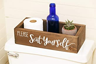 Please Seat Yourself -Bathroom decor - Funny Bathroom Humor- Toilet paper box