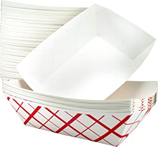 Sponsored Ad - Heavy Duty, Grease Resistant 3 Lb Paper Food Trays 100 Pack. Durable, Coated Paperboard Basket Ideal for Fe...