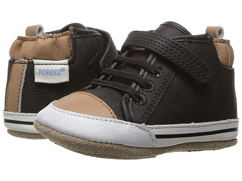 Robeez Brandon High Top Mini Shoez (Infant/Toddler) (Black) Boy