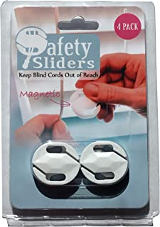 Blind Cord Safety Slider (4 Pack) - No Wall Damage- No Winding/Unwinding Cords