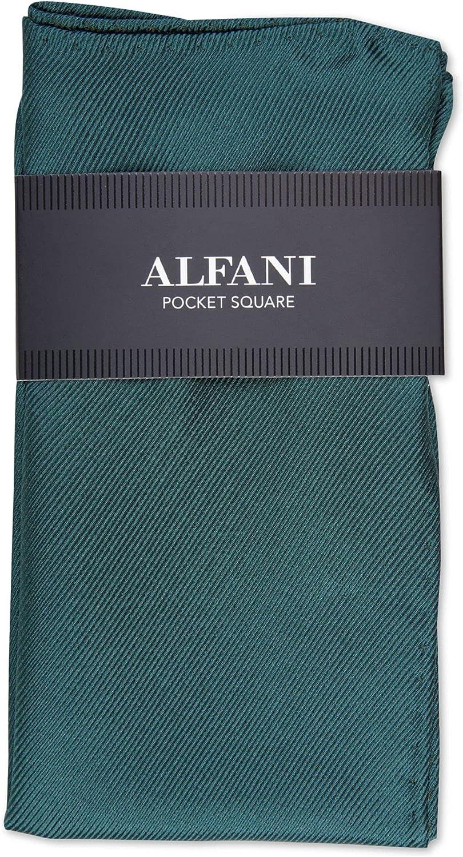 ALFANI Mens Blue Satin Pocket Square