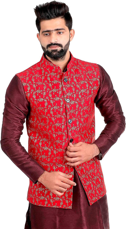 Veera Paridhaan Men's Banarasi Printed Nehru Jacket