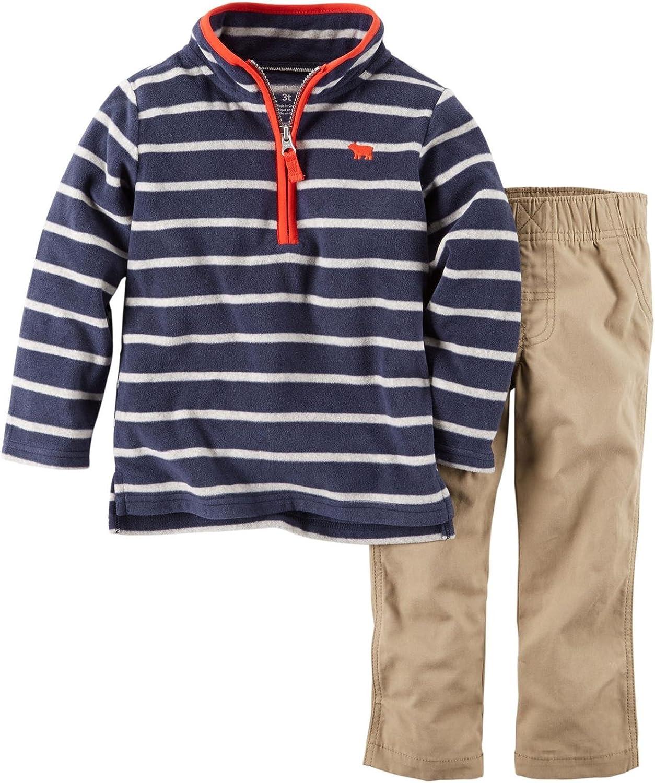 Carter's Baby Boys' 2 Piece Striped Set - Navy - 3 Months