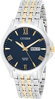 Citizen Mens Quartz Watch, Analog Display and Stainless Steel Strap - BF2024-50L