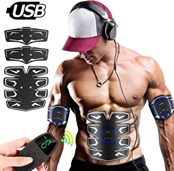 8-Pack Unoseks Abs Muscle Stimulator with LCD Display Remote Control