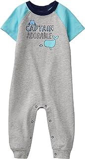Baby Boy Short Sleeve Long One-Piece