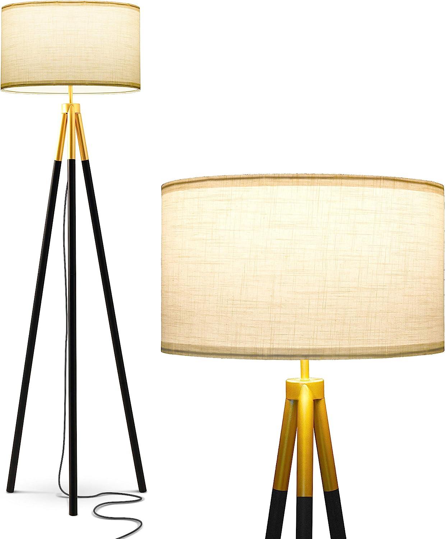 Brightech Levi - Black and Gold Tripod Floor Living Lamp Roo Denver Mall Regular store for