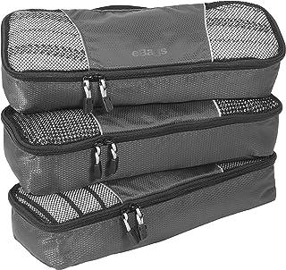 eBags Slim Classic Packing Cubes for Travel - Organizers - 3pc Set - (Titanium)