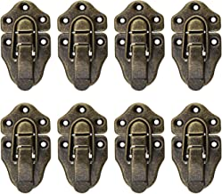OTOTEC color bronce envejecido de metal estilo retro Juego de 8 cierres para cajas estilo retro