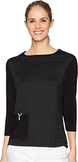 Jamie Sadock - Textured Long Sleeve Top