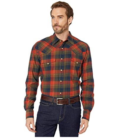Stetson 032 Brushed Twill Harvest Plaid (Orange) Men