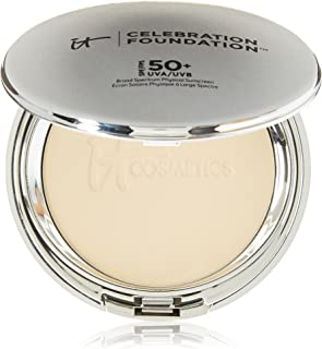 It Cosmetics Celebration Foundation Full Coverage Anti-Aging Hydrating Powder Foundation with SPF 50 in Medium 0.30 OZ