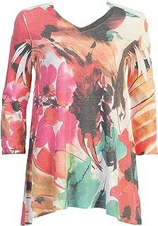 Jess & Jane Women's Love Song High Low Light Weight Sweater Knit Tunic Top