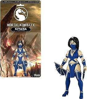 Funko Kitana x Mortal Kombat Mini Action Figure + 1 Video Games Themed Trading Card Bundle