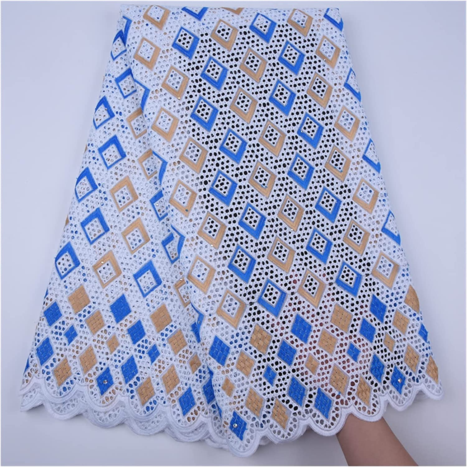 Super-cheap SHUYANshiyu Dry Lace sold out Fabric Perforated Cotton F Edge