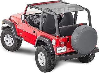 MasterTop 14220201 ShadeMaker Mesh Black TJ Bimini Plus Jeep Brief Tops