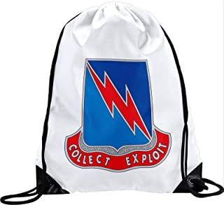 ExpressItBest Large Drawstring Bag - US Army Military Intelligence, Branch Plaque
