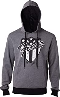 Fender Hoodie American Shield Guitar Logo Official Mens Grey Pullover