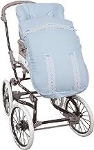 Saco de Bebé Universal Silla PIQUE ALTA GAMA CELESTE + Cubre Arnés de regalo, desmontable, tejido trasero 3D