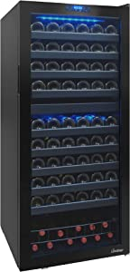 Vinotemp VNTVT-122TS-2Z 110 Bottle Dual-Zone Touch Screen Wine Cooler